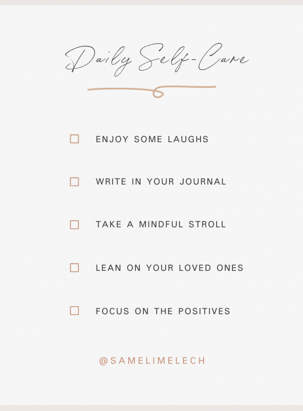 A Daily Self-Care Checklist